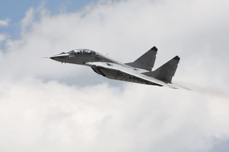 战斗机获得军事俄语 免版税库存图片