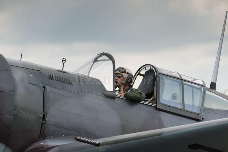 战斗机飞行员 图库摄影