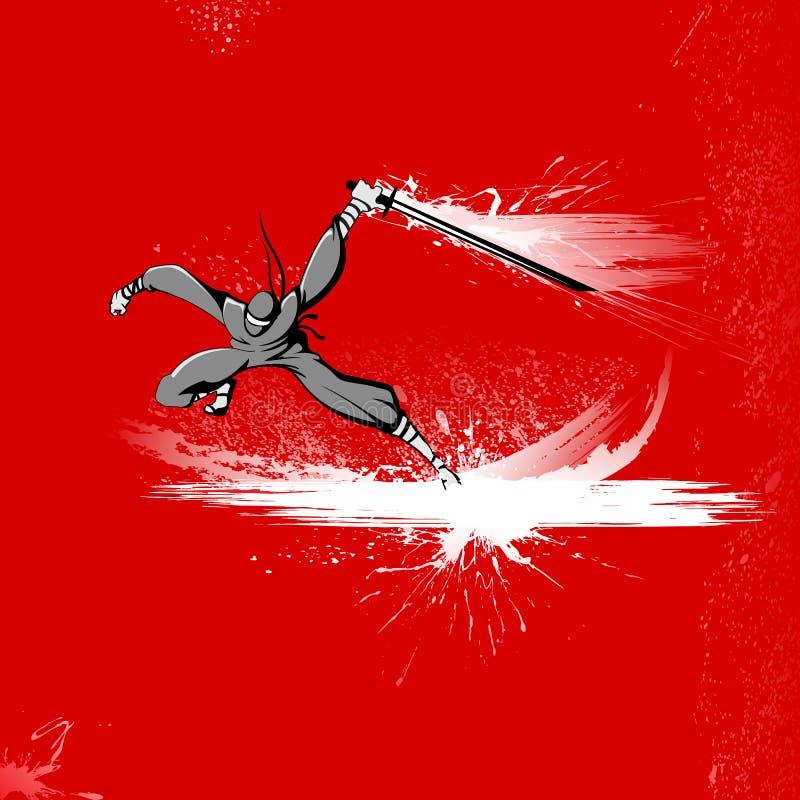 战斗机ninja 向量例证