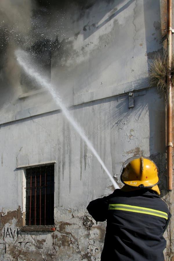 战斗火消防员 库存图片