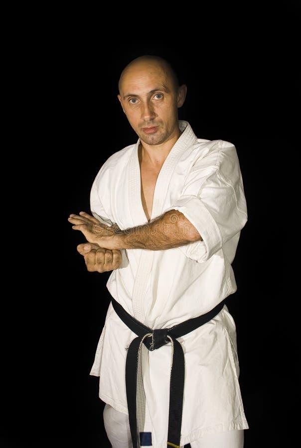 战斗karateka人 库存图片