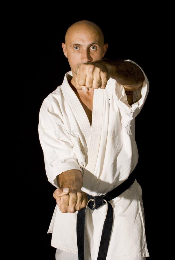 战斗karateka人 图库摄影