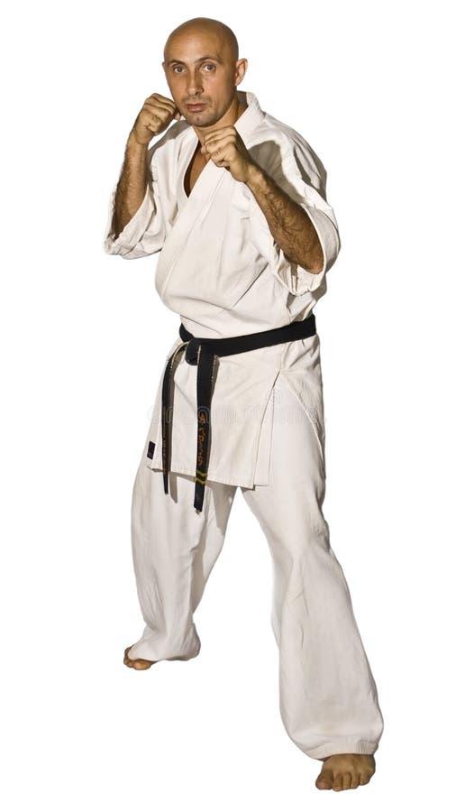 战斗karateka人 库存照片