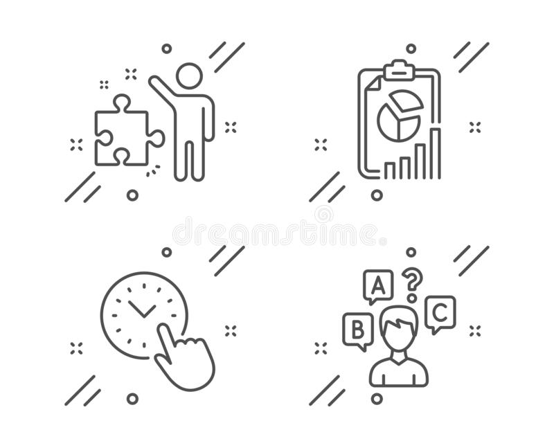 战略、时间管理和报告象集合 测验测试标志 ?? 库存例证