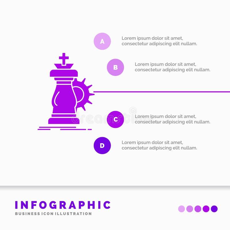 战略、棋、马、骑士、成功Infographics模板网站的和介绍 r 向量例证