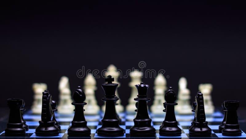 战略下棋比赛 库存图片