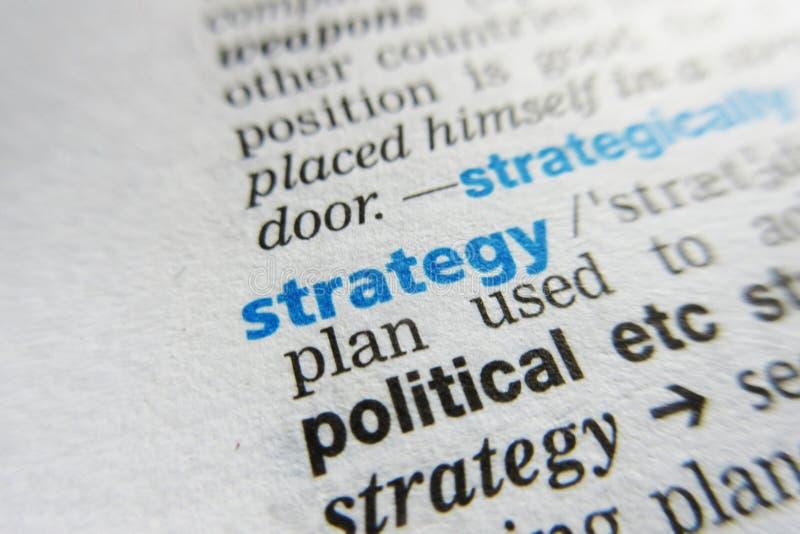 战略字词词典定义 免版税库存图片