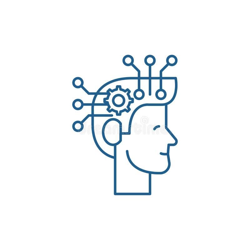战略想法的线象概念 战略想法的平的传染媒介标志,标志,概述例证 库存例证