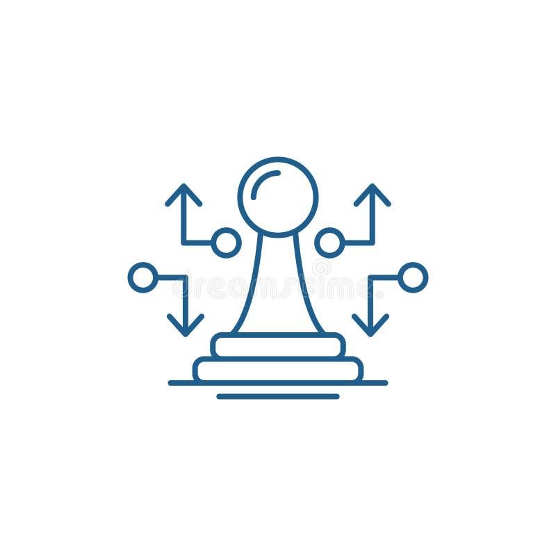 战略措施线象概念 战略措施平的传染媒介标志,标志,概述例证 向量例证