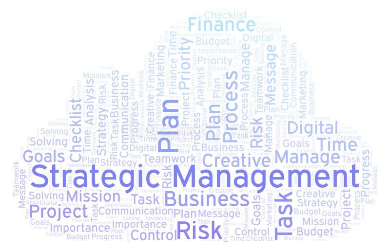 战略管理词云彩,做用仅文本 库存例证