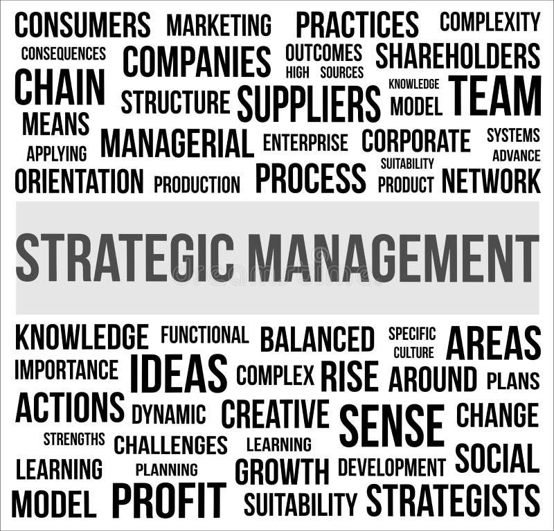 战略管理 向量例证