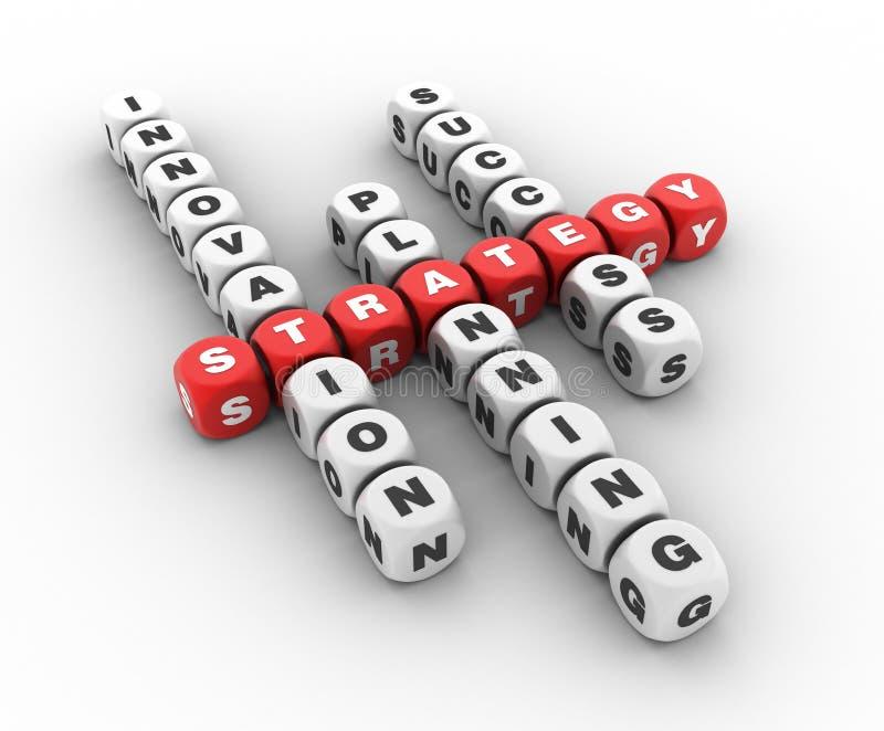 战略纵横填字谜 向量例证