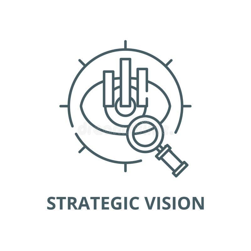 战略视觉传染媒介线象,线性概念,概述标志,标志 皇族释放例证