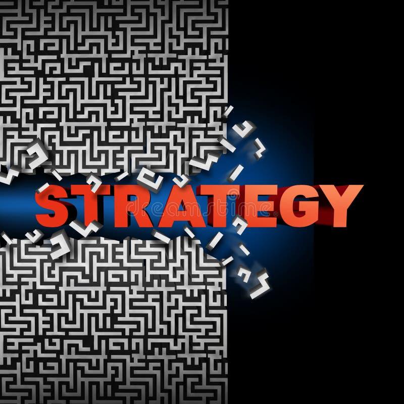 战略解答 向量例证