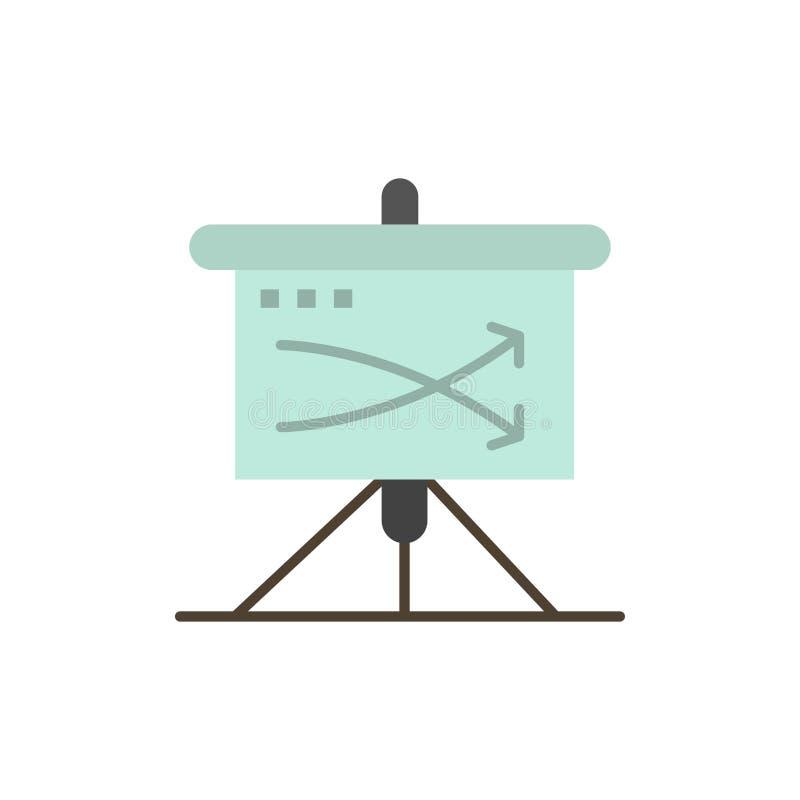 战略,事务,计划,计划,图表平的颜色象 传染媒介象横幅模板 库存例证