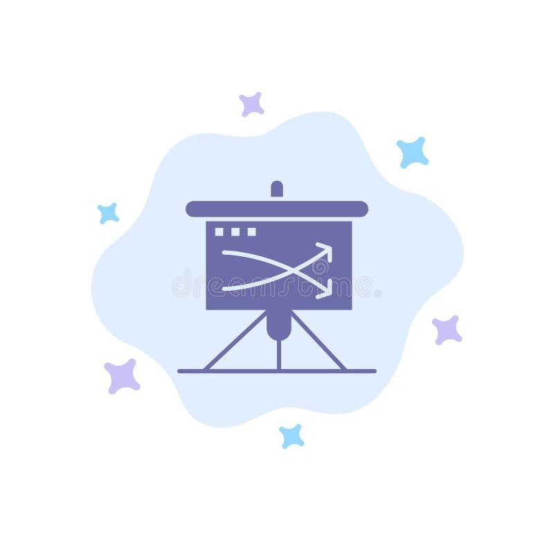 战略,事务,计划,计划,在抽象云彩背景的图表蓝色象 库存例证