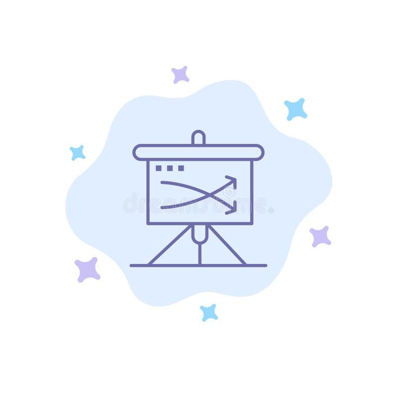 战略,事务,计划,计划,在抽象云彩背景的图表蓝色象 向量例证
