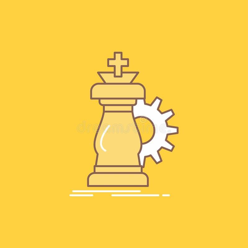 战略,棋,马,骑士,成功平的线填装了象 r 向量例证
