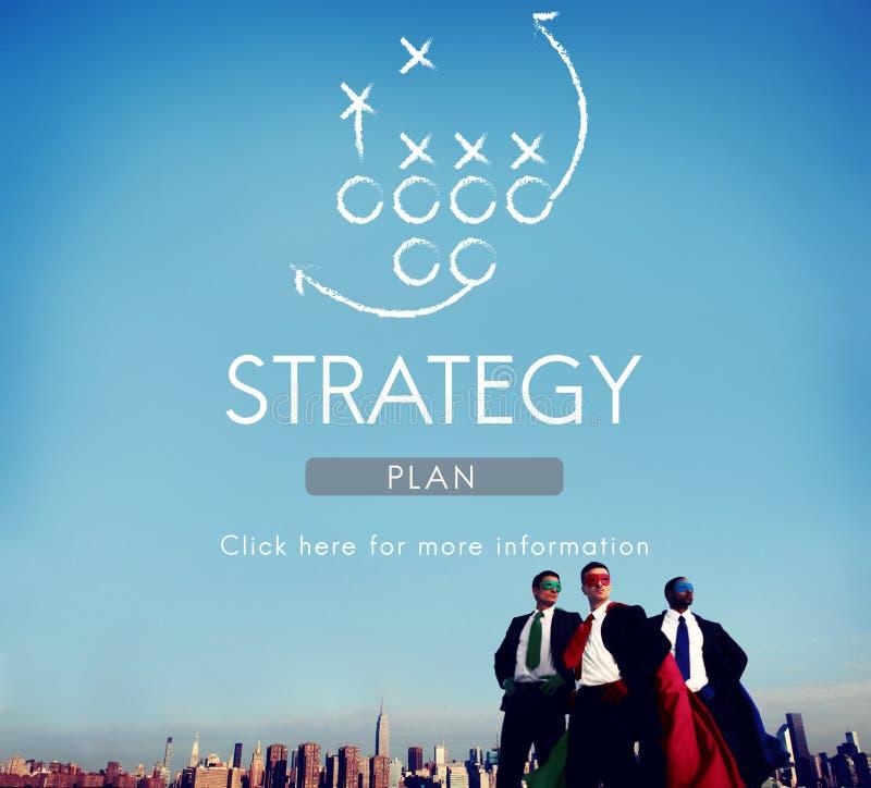 战略逻辑分析方法计划概念的战术目标 库存照片