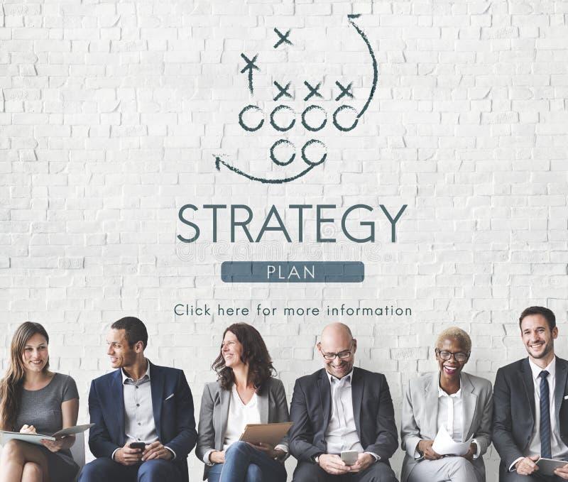 战略逻辑分析方法计划概念的战术目标 免版税库存照片