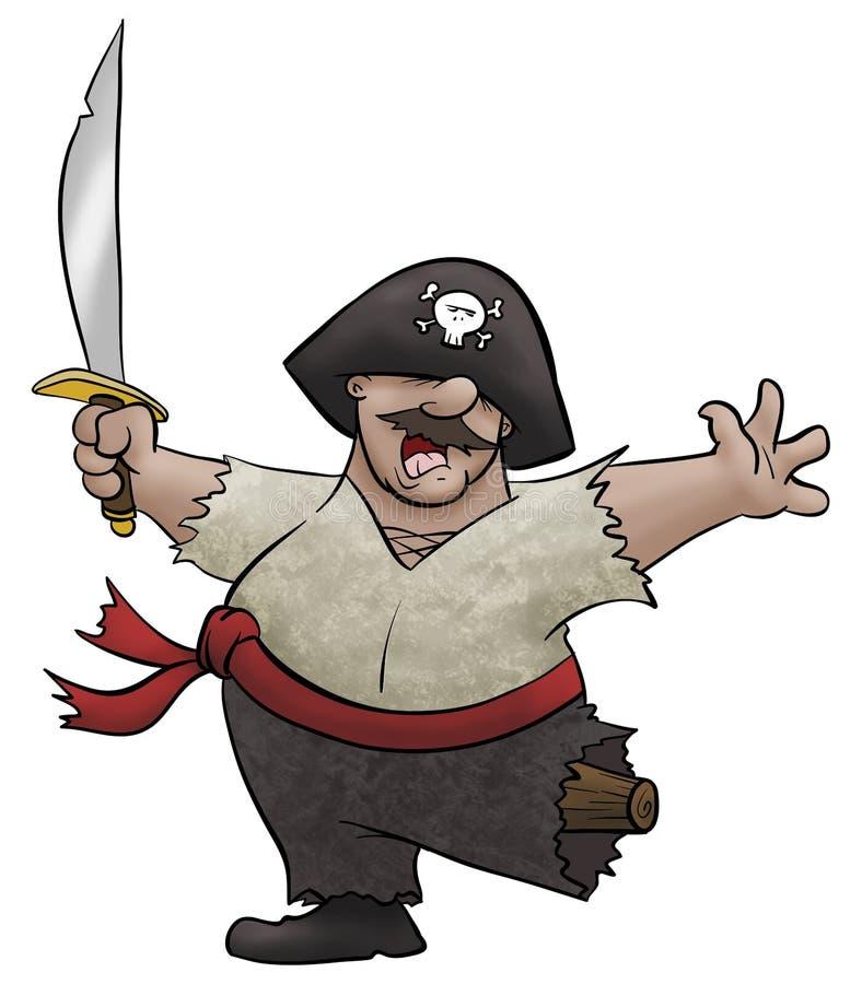 战胜海盗 库存照片