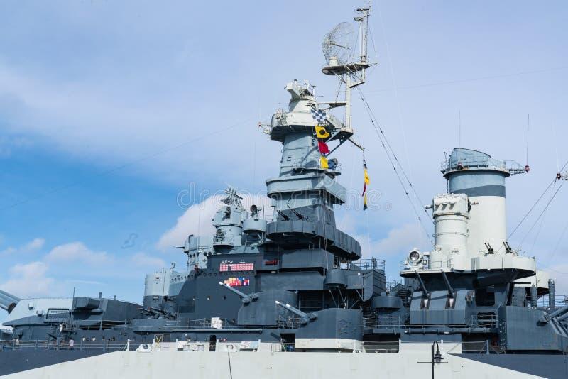 战舰北卡罗莱纳号战舰 免版税图库摄影