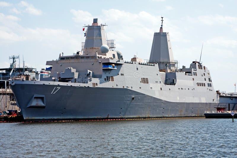 战舰海军陆战队员海军 免版税库存照片