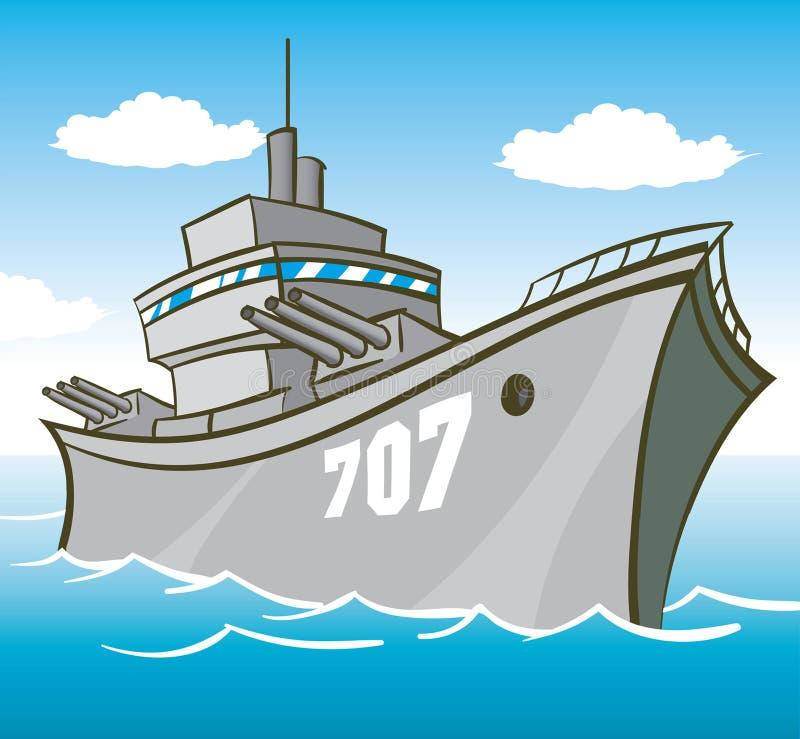 战舰 库存例证