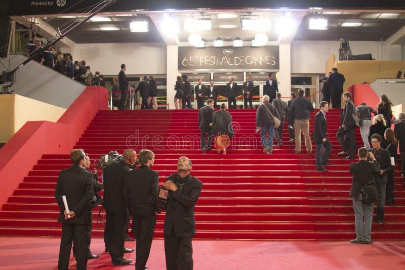 戛纳地毯红色 库存照片