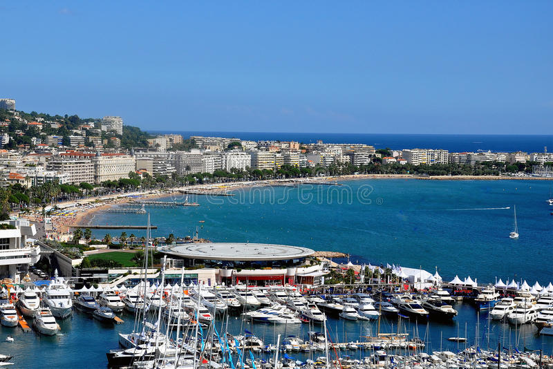 戛纳法国海滨 免版税库存照片