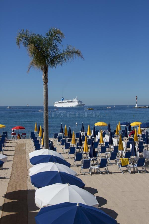 戛纳-法国海滨-法国的南部 免版税库存图片