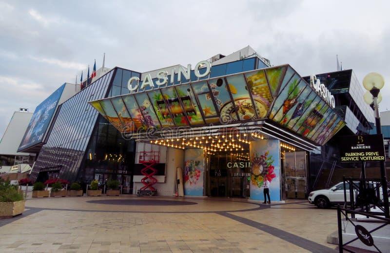 戛纳-赌博娱乐场在节日宫殿 免版税库存照片