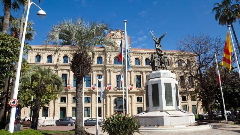 戛纳- Hotel de Ville 库存图片