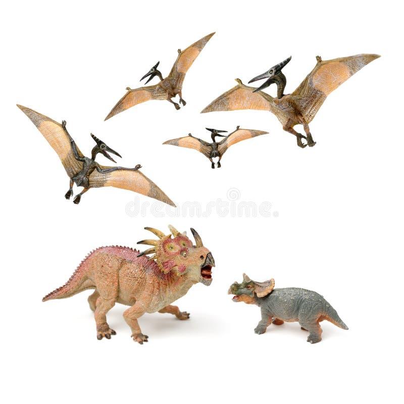 戟龙恐龙形象玩具 库存图片