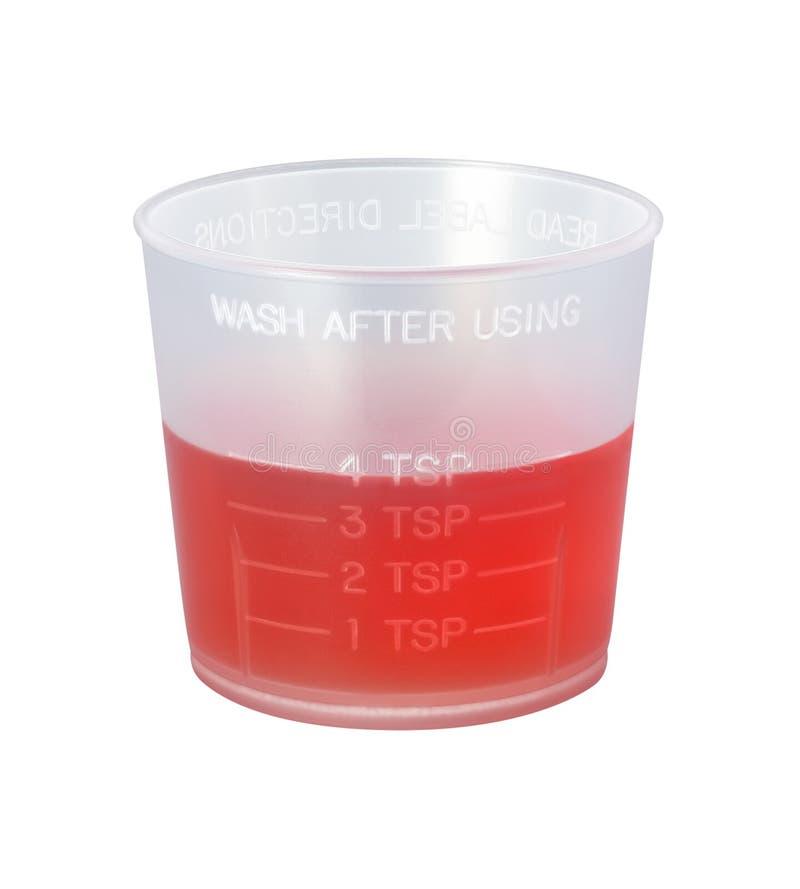 截去的咳嗽杯子医学路径糖浆 库存照片