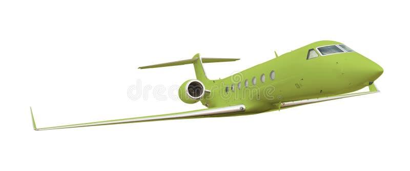 截去绿色路径白色的飞机 图库摄影
