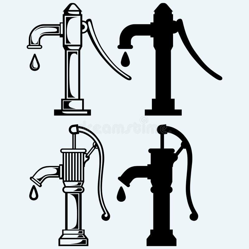 截去的查出的路径泵水白色 库存例证