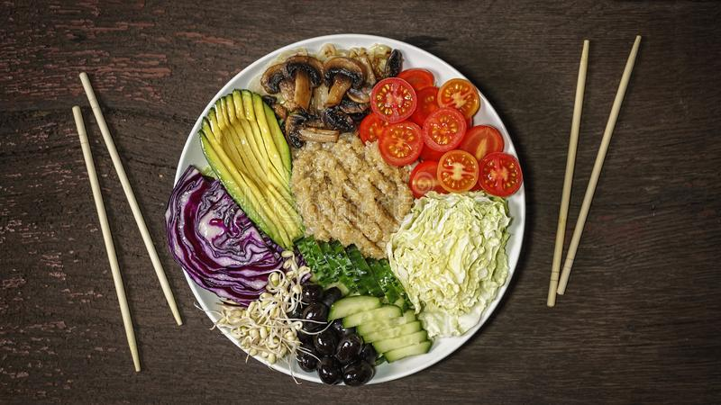 戳碗,戒毒所,蒙季绿豆芽,kenoa,西红柿,a 库存照片