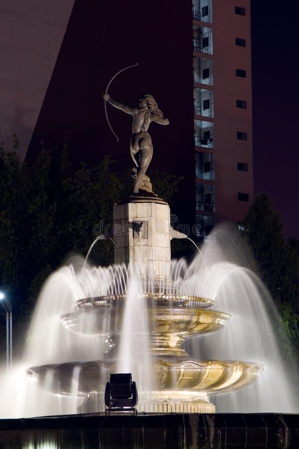 戴安娜喷泉 免版税库存照片