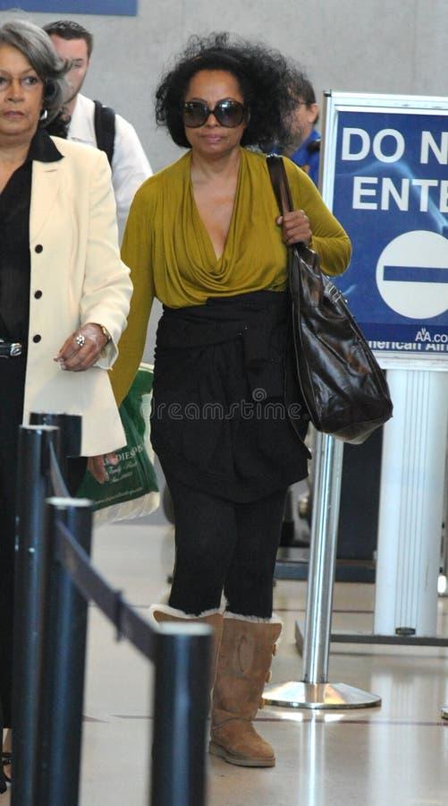 戴安娜松驰罗斯被看见的歌唱家 免版税库存图片