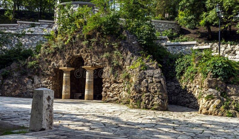 戴安娜洞穴手段的五山城 库存照片