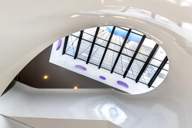 户内抽象现代建筑学 库存照片