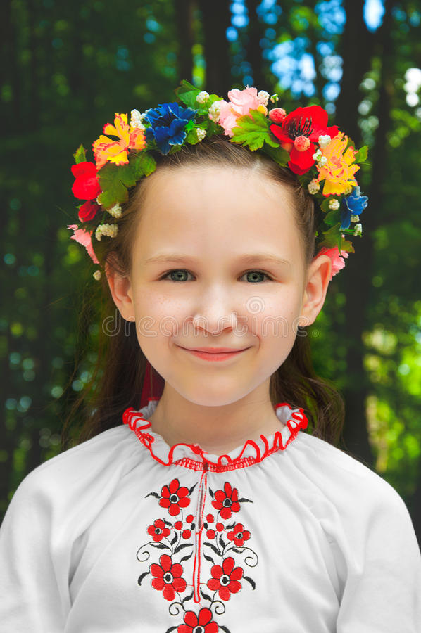 户外乌克兰女孩 库存图片