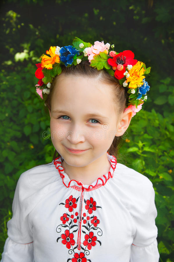 户外乌克兰女孩 图库摄影