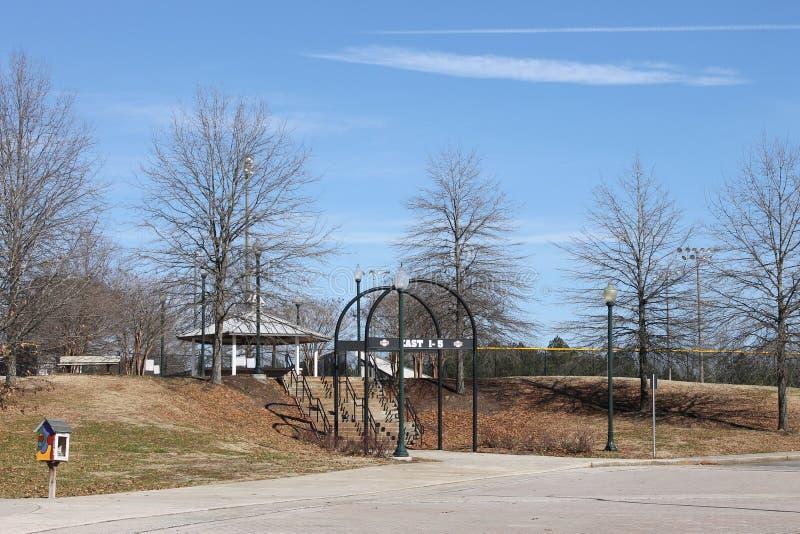 户外好的公园和蓝天在公园 图库摄影