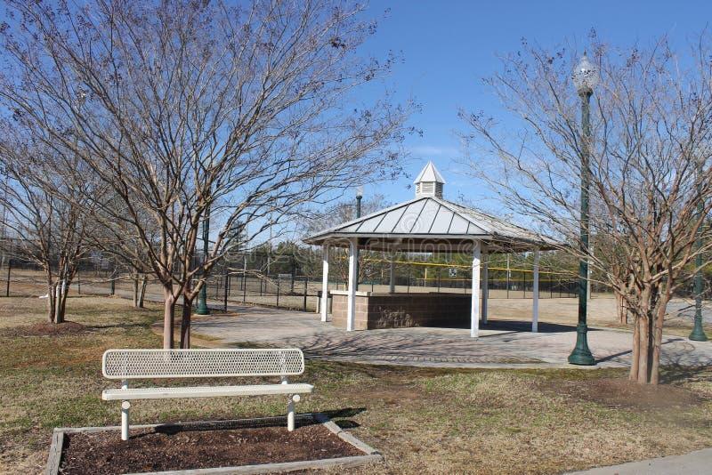 户外好的在公园的公园野餐温驯和蓝天 库存照片