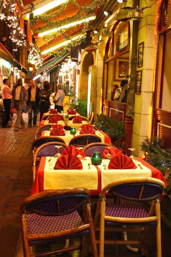 户外布鲁塞尔餐馆 库存照片