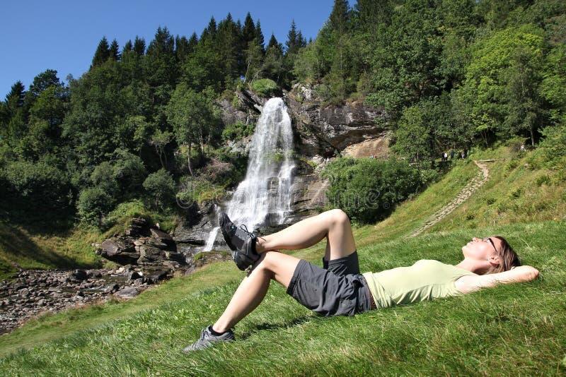 户外挪威冒险 免版税库存图片