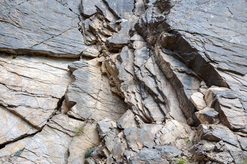 户外油母页岩作为背景 库存图片
