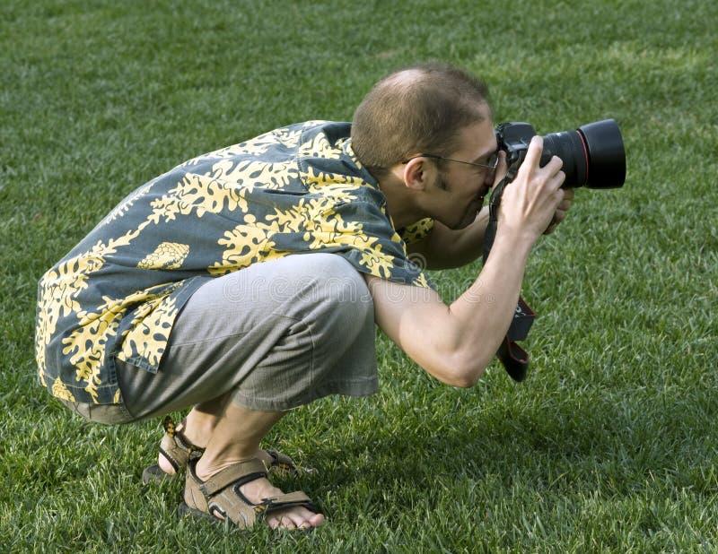 户外活动摄影师专业人员 库存照片